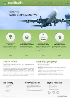 Strona dla firmy Multisoft - projekt graficzny i wdrożenie w 2014 roku.