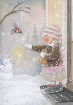 Find images and videos about christmas and snow on We Heart It - the app to get lost in what you love. Vintage Christmas Cards, Christmas Pictures, Christmas Art, Vintage Cards, Winter Christmas, Holiday, Illustration Noel, Winter Illustration, Christmas Illustration