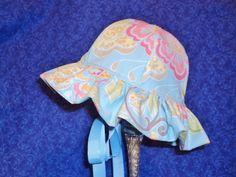 Custom for Juana Baby Sunhat Blue by AdorableandCute on Etsy, $24.00