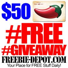 Check out this AWESOME freebie site ► FREEBIE DEPOT! https://gleam.io/h0IfI-MAExrF?l=http%3A%2F%2Fwww.freebie-depot.com%2Ffree-giveaway-contest-free-50-chilis-gift-win-free-stuff-in-giveaway-contest%2Fcomment-page-1%2F%23comment-52449
