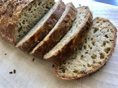 Bread Recipes, Cooking Recipes, Healthy Recipes, Healthy Food, Buckwheat, Low Carb Keto, Bread Baking, Tofu, Banana Bread