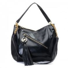 638c8a11595d Michael Kors Outlet Chain Large Black Shoulder Bags Michael Kors Factory  Outlet