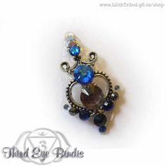 Mademoiselle Giselle – tribal bindi (blue)