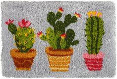 latch-hook, cactus, modern, DIY