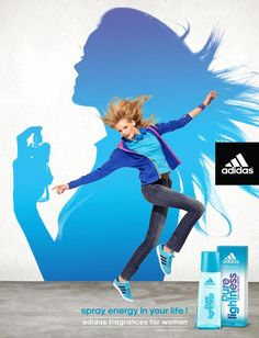 Advertising #Adidas fragrance for Women - by Y & R Paris - 2011