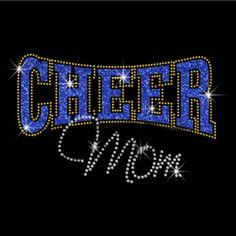 Cheer Mom Glitter Rhinestone Transfer