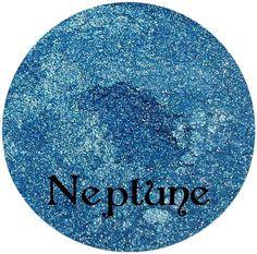 Shimmery Blue Eyeshadow NEPTUNE by SpectrumCosmetic on Etsy, $3.00