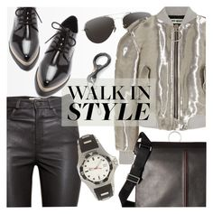 """""""Walk in Style"""" by cilita-d ❤ liked on Polyvore featuring Linda Farrow, Off-White, H&M, Forever 21, Bugatchi and Givenchy"""