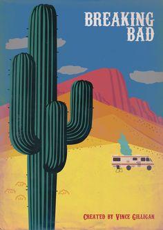 Breaking Bad (2008–2013) ~ Minimal TV Series Poster by Vikrant Banerjee #amusementphile