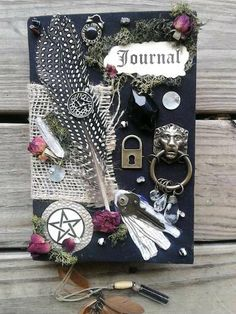 Hand Bound Book of Shadows/Dream Journal/Personal Notebook