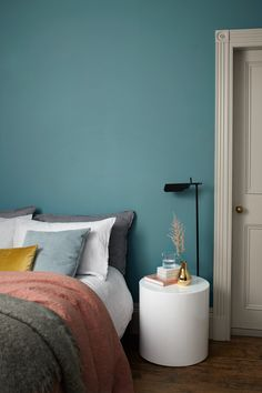 Set sail for a relaxing bedroom scheme with a soothing shade of blue. Maritime Teal from our Heritage range is sure to lull you off to the land of nod in style. Bedroom Paint Colors, Bedroom Makeover, Relaxing Bedroom, Yellow Bedroom, Bedroom Decor, Teal Bedroom, Bedroom Color Schemes, Bedroom Colors, Teal Bedroom Walls