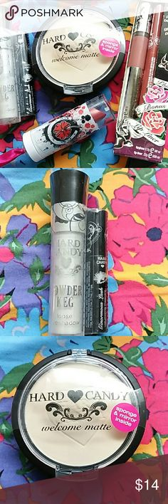 Hard Candy Make Up NEW! New and still in package.  Includes loose eye shadow and mini mascara,  mattifying powder,  lipstick in CRUSH,  lip gloss plus lip liner. Hard Candy Makeup