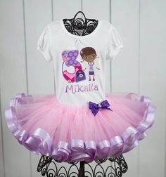 Doc Birthday Tutu Set Girls Custom Personalized by AnnesApplique