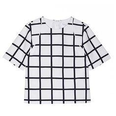 Star Eyes Boxy Blouse in Check Print (2.065 ARS) ❤ liked on Polyvore featuring tops, blouses, shirts, tees, star print shirt, check pattern shirt, boxy shirt, graphic tops and checkered pattern shirt
