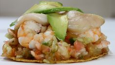 Orden Ceviche Pescado - El Rancho Taqueria - Zmenu, The Most Comprehensive Menu With Photos Shrimp Tostadas, Ceviche, Puerto Vallarta, Seafood, Avocado, Menu, Dishes, Photos, Gastronomia