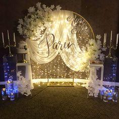 Wedding Stage Backdrop, Wedding Backdrop Design, Desi Wedding Decor, Wedding Stage Decorations, Engagement Decorations, Backdrop Decorations, Wedding Table, Backdrops, Wedding Cards
