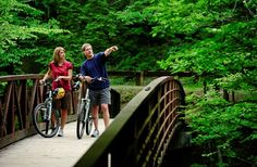 Tennessee Bike Trails - Love to ride? Bring your bike or rent one at Cades Cove and take the beautiful loop through history, homesteads and wildlife. Gatlinburg Cabin Rentals, Gatlinburg Tn, Smoky Mountains Cabins, Great Smoky Mountains, Smoky Mountain National Park, Smokey Mountain, Mountain Park, Mountain Biking, Mountain Vacations