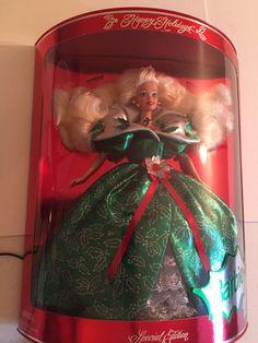 Happy Holidays Barbie 1995 Special Edition NIB #Mattel #Dolls