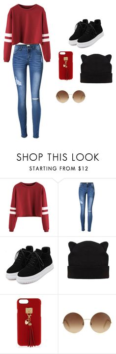 """School Outfit"" by le-tater ❤ liked on Polyvore featuring Henri Bendel and Victoria Beckham"