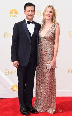 Jimmy Kimmel & Molly McNearney from 2014 Emmys: Red Carpet Couples | E! Online - Get the look by Ralph Lauren http://www.sarnoandson.com/Tuxedos/Super-100s-Two-Button-Notch-by-Ralph-Lauren-680.aspx