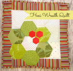 This hexi wreath pattern is so cute and easy to make. With just a few scraps and a quick afternoon you can cross someone off your holiday gift list.  By Patchwork Posse