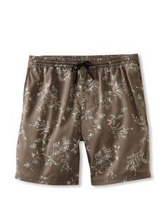 58% OFF Rhythm Men\'s Floral Box Jam Swim Short (Stone)