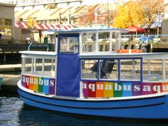 Aqua bus...to take you to Grandville Island...Nana and I rode this little boat. Canada