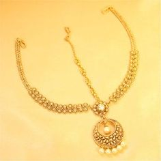 Antique Gold Look Pearl Maathapatti