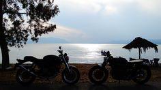 ducati GT1000 & bmw r45 brat. ride in Greece