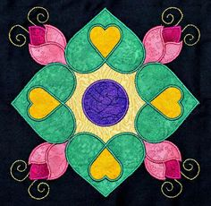 affairs of the heart quilt pattern | Affairs of the Heart Applique Quilt Kit