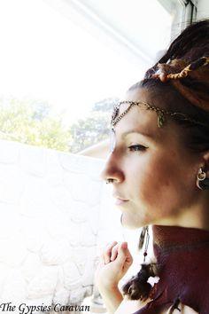 Base Chakra    Brass Chain Headdress     by thegypsiescaravan, $65.00