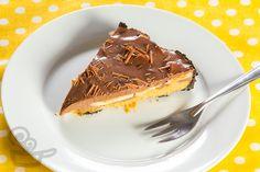 torta de banana com ganache de chocolate