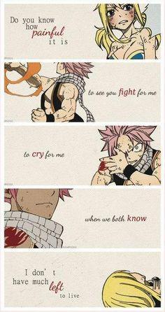 Fairy Tail Natsu x Lucy - Nalu l Fairy Tail Nalu, Fairy Tail Love, Fairy Tail Family, Fairy Tail Couples, Fairy Tail Ships, Sad Fairy, Fairy Tail Natsu And Lucy, Naruto Triste, Anime Triste