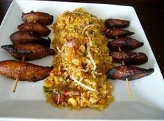 Cuban style fried rice with platanos...absolutely the bomb!!