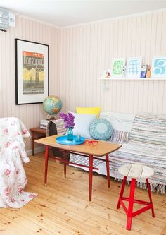 protect the couch with area rugs and colorful pillows