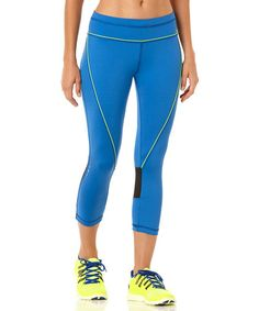Look at this #zulilyfind! Liquid Cobalt Velocity Capri Leggings by C&C California #zulilyfinds