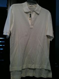 For Sale: Bobby Jones Men's Off White (Small) - Has Bobby Jones embroidered on the left sleeve, no tags, Size small.  The shirt shows no signs of wear. Tags are also cut out of the collar.