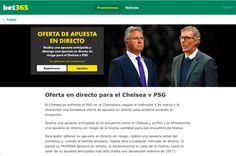 OFERTA EN DIRECTO PARA EL CHELSEA VS PSG EN BET365.ES