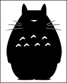 Minimalist Totoro by elenchu
