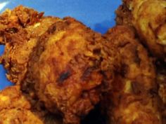 """DOUBLE DIPPED BUTTERMILK FRIED CHICKEN: ~ From: """"Food Network.Com."""" ~ Recipe Courtesy Of: BOBBY FLAY (Boy Meets Grill - Fried Chicken) ~ Prep.Time: 20 min; Inactive Time: 4 hrs; Cook Time: 1 hr, 20 min; Total Time: 5 hrs, 40 min; Level: Intermediate; Yield: (4 to 6 servings)."""