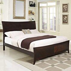 elizabeth queen bed frame in cappuccino modernbeds