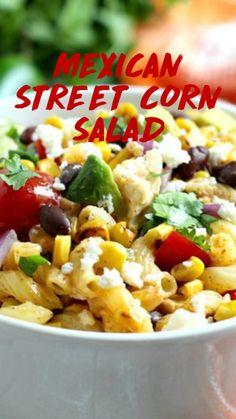 Healthy Macaroni Salad, Mexican Macaroni Salad, Mexican Pasta, Mexican Salad Recipes, Mexican Street Corn Salad, Mexican Salads, Corn Salad Recipes, Best Pasta Salad, Corn Salads