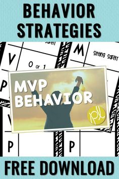 Positive Behavior Strategy - download FREE today! This is a super simple AND effective strategy that helps keep the focus on learning. Grab your MVP classroom management chart today! From Positively Learning Blog #classroommanagement #behaviorchart