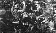 UPA insurgents with captured German soldiers.