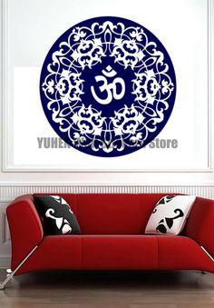 Mandala yoga naklejki naklejki ścienne indie sanskryt lotosu wzory wnętrza tło szkło dekoracyjne naklejki ścienne wymienny(China (Mainland))