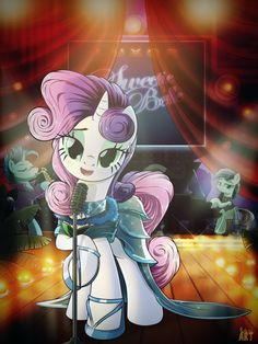 Tonight at Luxor! 2 - Sweetie Singer by Ruhisu on DeviantArt My Little Pony Cartoon, My Little Pony Pictures, Some Beautiful Pictures, Random Pictures, Beautiful Images, Sweetie Belle, Little Poni, Mlp Characters, Imagenes My Little Pony