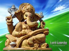Collection of Hindi God Ganesh wallpapers and pictures.