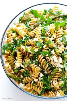 Asparagus and Arugula Pasta Salad   gimmesomeoven.com
