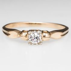 Old Miner Diamond Petite Engagement Ring