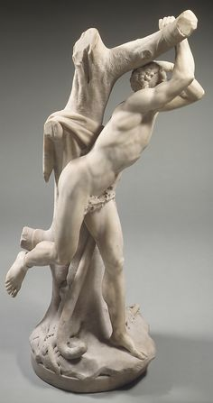 Marsyas. Attributed to Christophe Veyrier  (1637–1689)  Date:     second half 17th century Culture:     French (Toulon) (?) Medium:     Marble Dimensions:     H. 41 in. (104.1 cm) Classification:     Sculpture